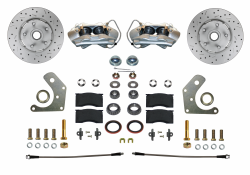 Front Disc Brake Conversion Kits - All Front Disc Brake Kits - LEED Brakes - Front Disc Brake Conversion Kit Spindle Mount Mopar B & E Body | MaxGrip XDS Rotors