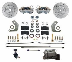 Front Disc Brake Conversion Kits - All Front Disc Brake Kits - LEED Brakes - Manual Front Disc Brake Conversion Kit  Mopar B & E Body | MaxGrip XDS Rotors