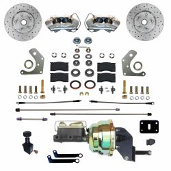 Front Disc Brake Conversion Kits - Power Front Kits - LEED Brakes - Power Front Disc Brake Conversion Kit  Mopar B & E Body   MaxGrip XDS Rotors