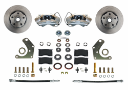 Front Disc Brake Conversion Kits - All Front Disc Brake Kits - LEED Brakes - Front Disc Brake Conversion Kit Spindle Mount Mopar C Body