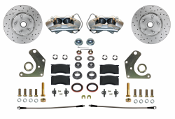 Front Disc Brake Conversion Kits - All Front Disc Brake Kits - LEED Brakes - Front Disc Brake Conversion Kit Spindle Mount Mopar C Body | MaxGrip XDS