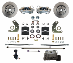 Front Disc Brake Conversion Kits - All Front Disc Brake Kits - LEED Brakes - Manual Front Disc Brake Conversion Kit Mopar C Body