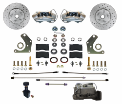 Front Disc Brake Conversion Kits - All Front Disc Brake Kits - LEED Brakes - Manual Front Disc Brake Conversion Kit Mopar C Body | Max Grip XDS Rotors