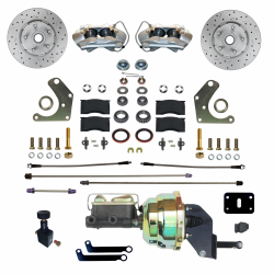 Front Disc Brake Conversion Kits - Power Front Kits - LEED Brakes - Power Front Disc Brake Conversion Kit Mopar C Body   MaxGrip XDS Rotors