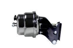 LEED Brakes - 7 inch Dual power booster , 1-1/8 inch Bore Flat Top master, side mount valve, disc/drum (Chrome) - Image 3