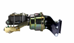 LEED Brakes - 7 inch Dual power booster , 1-1/8 inch Bore master, side mount valve, disc/drum