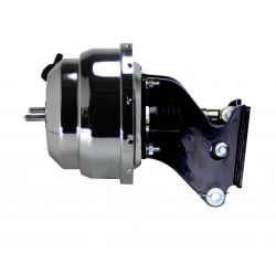 LEED Brakes - 8 inch Dual power booster , 1-1/8 inch Bore Flat Top master, side mount valve, disc/disc (Chrome) - Image 3