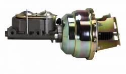 LEED Brakes - 8 inch Dual power booster , 1-1/8 inch Bore master, side mount valve, disc/drum (Zinc) - Image 2