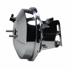 LEED Brakes - 9 inch power booster , 1-1/8 inch Bore Flat Top master, adjustable proportioning valve (Chrome) - Image 3