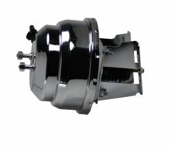 LEED Brakes - 8 inch Dual power booster , 1-1/8 inch Bore Flat Top master, side mount valve. Disc/disc (Chrome) - Image 3