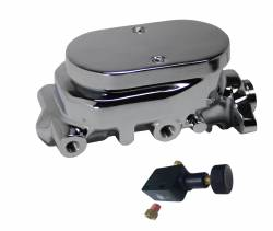 Universal Fit Products - Universal Brake Master Cylinder Kits - LEED Brakes - Master Cylinder Kit - Chrome 1 inch Bore left port with adjustable valve