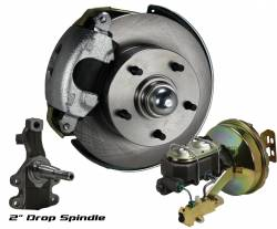 "Front Disc Brake Conversion Kits - Power Front Kits - Power Front Kit - 2"" Drop Spindles"