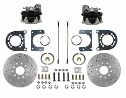 Rear Disc Brake Conversion Kits - LEED Brakes - Rear Disc Brake Conversion Kit - MaxGrip XDS - Ford 9in Large bearing New Style Torino