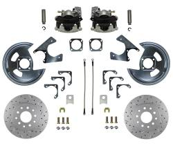 Rear Disc Brake Conversion Kits - MaxGrip XDS Rear Disc Brake Kits  - LEED Brakes - Rear Disc Brake Conversion Kit - MaxGrip XDS - GM 10 & 12 Bolt Axles 5 x4.75 non Staggered Shocks