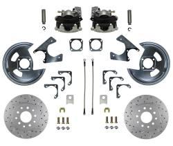 Rear Disc Brake Conversion Kits - LEED Brakes - Rear Disc Brake Conversion Kit - MaxGrip XDS - GM 10 & 12 Bolt Axles 5 x4.75 non Staggered Shocks