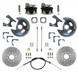 Rear Disc Brake Conversion Kits - MaxGrip XDS Rear Disc Brake Kits  - LEED Brakes - Rear Disc Brake Conversion Kit - MaxGrip XDS - GM 10 & 12 Bolt Axles 5 x4.75 with Staggered Shocks