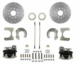 Rear Disc Brake Conversion Kits - MaxGrip XDS Rear Disc Brake Kits  - LEED Brakes - Rear Disc Brake Conversion Kit - with MaxGrip XDS Rotors Mopar 8-3/4 9-3/4 Rear Axles