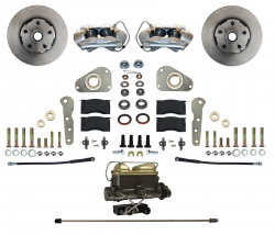 Front Disc Brake Conversion Kits - Manual Front Kits - LEED Brakes - Manual Front Disc Brake Conversion Ford Full Size 4 Piston