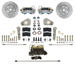 Front Disc Brake Conversion Kits - Manual Front Kits - LEED Brakes - Manual Front Disc Brake Conversion Ford Full Size 4 Piston | MaxGrip XDS Rotors