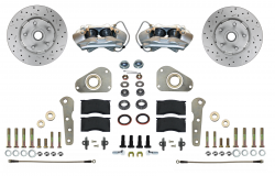 Front Disc Brake Conversion Kits - Spindle Mount Kits - LEED Brakes - Front Disc Brake Conversion Kit Spindle Mount | MaxGrip XDS Rotors