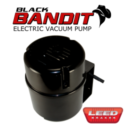Master Cylinders & Power Boosters - Power Brake Boosters - LEED Brakes - Electric Vacuum Pump Kit - Black Bandit Series