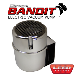 Master Cylinders & Power Boosters - Power Brake Boosters - LEED Brakes - Electric Vacuum Pump Kit - Chrome Bandit Series