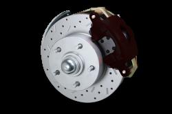 LEED Brakes Red Powder Coated Kit with MaxGrip Rotors