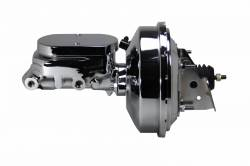 """LEED Brakes - Power Front Disc Brake Kit Drilled and Slotted Rotors, Black Powder Coated Calipers with 9"""" Chrome Booster, Chrome M/C Adjustable Proportioning Valve - Image 8"""