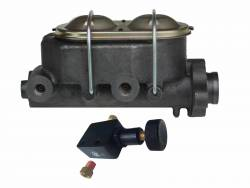 """LEED Brakes - Manual Front Disc Brake Kit 2"""" Drop Spindle Drilled and Slotted Rotors  Red Powder Coated Calipers Cast Iron M/C Adjustable Proportioning Valve - Image 8"""