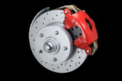 "RFC1007-105X Leed Brakes Red Powder Coated Nova 2"" Drop Assembly"