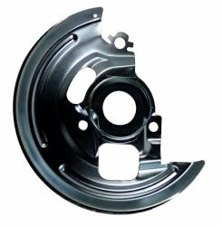 """LEED Brakes - Power Front Disc Brake Kit 2"""" Drop Spindle Drilled and Slotted Black Powder Coated Calipers 9"""" Chrome Booster Disc/Drum - Image 5"""