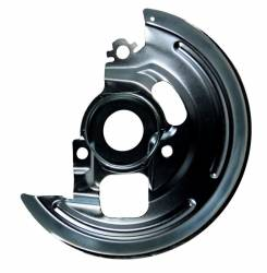 "LEED Brakes - Power Front Disc Brake Kit 2"" Drop Spindle Drilled and Slotted Black Powder Coated Calipers 9"" Chrome Booster Disc/Disc - Image 4"