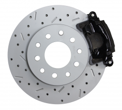 LEED Brakes - Rear Disc Brake Conversion Kit - MaxGrip XDS- Black Powder Coated Calipers - Ford 8in 9in Small bearing - Image 3