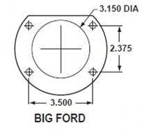 Large Bearing Ford Axle Flange Dimensions