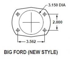 Large Bearing New Style Torino flange dimensions
