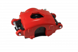 Disc Brake Parts - Brake Calipers - LEED Brakes - Caliper Single Piston GM Right side Red Powder Coated