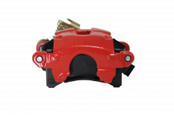 Disc Brake Parts - Brake Calipers - LEED Brakes - Rear Disc Brake Caliper with Parking Brake Red Powder Coated LH