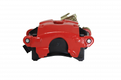 Disc Brake Parts - LEED Brakes - Rear Disc Brake Caliper with Parking Brake Red Powder Coated RH