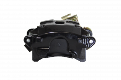 Disc Brake Parts - Brake Calipers - LEED Brakes - Rear Disc Brake Caliper with Parking Brake Black Powder Coated RH