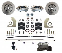 Front Disc Brake Conversion Kits - All Front Disc Brake Kits - LEED Brakes - Manual Front Disc Brake Conversion Kit  Mopar A Body