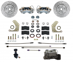 Front Disc Brake Conversion Kits - All Front Disc Brake Kits - LEED Brakes - Manual Front Disc Brake Conversion Kit  Mopar A Body with MAXGrip XDS Rotors