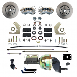 Power Front Kit - Stock Ride Height - _Standard Kit - LEED Brakes - Power Front Disc Brake Conversion Kit  Mopar A Body