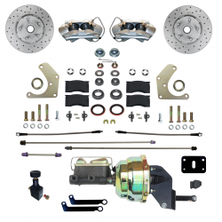 LEED Brakes - Power Front Disc Brake Conversion Kit  Mopar A Body with MAXGrip XDS Rotors