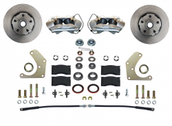 Front Disc Brake Conversion Kits - Spindle Mount Kits - LEED Brakes - Front Disc Brake Conversion Kit  Mopar A Body - Spindle Mount