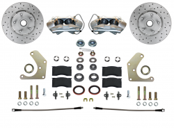 Spindle Mount Kits - Spindle Mount Kit - Stock Ride Height - LEED Brakes - Front Disc Brake Conversion Kit  Mopar A Body Spindle Mount with MAXGrip XDS Rotors