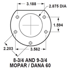 LEED Brakes - Rear Disc Brake Conversion Kit - with MaxGrip XDS Rotors Mopar 8-3/4 9-3/4 Rear Axles - Image 2
