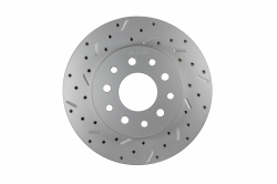 LEED Brakes - Rear Disc Brake Conversion Kit - Mopar 8-1/4  9-1/4 Rear Axles MaxGrip XDS Rotors with Red Calipers - Image 3