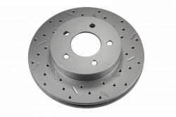 LEED Brakes - Rear Disc Brake Conversion Kit - Mopar 8-1/4  9-1/4 Rear Axles MaxGrip XDS Rotors with Red Calipers - Image 4