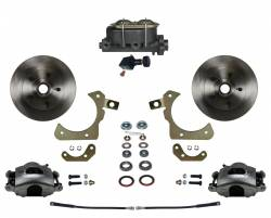 Front Disc Brake Conversion Kits - All Front Disc Brake Kits - LEED Brakes - Manual Front Disc Brake Conversion Kit with Adjustable Proportioning Valve