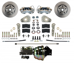 Front Disc Brake Conversion Kits - Power Front Kits - LEED Brakes - Power Front Disc Brake Conversion Ford Full Size 4 Piston - Y Block Cars